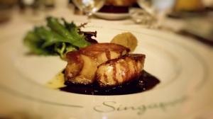 Foie Gras frais de canard des Landes, poêlé façon Angélus Pan- fried duck liver 'Angelus' style