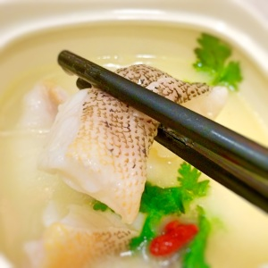 Shark's bone cartilage soup with grouper