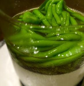 Candlenut's Signature Chendol Cream, Pandan Jelly, Gula Melaka
