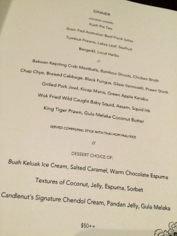 They even made an exclusive menu for G.licious! Awww.....