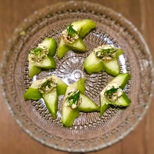 Tumbuk Prawns, Laksa Leaf, Starfruit