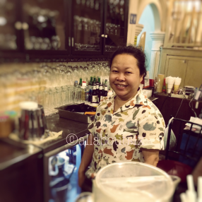 All smiles here at Raya Thai. Guess who makes an addictive Thai Iced Tea?!