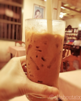 Thai Iced Tea. I usually start with one and end with another!