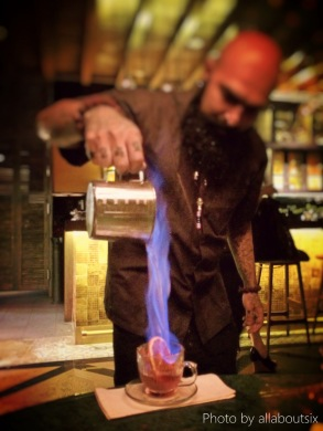 Now that's a fancy drink! Flame Tarik?
