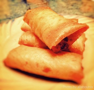 Spring Rolls with Prawn and meat